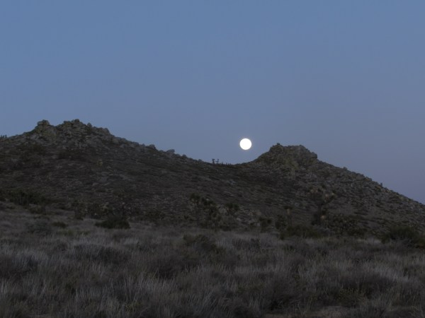 Moonrise Over the Hills of the Mojave Desert