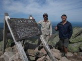 Stank and I on the Summit of Mount Katahdin in Maine