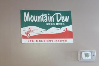 Mountain Dew Sign at CJ's Pizza in Pennsboro, West Virginia