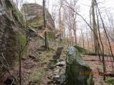 Steps in the Rocks on the Rim Rock National Recreation Trail in the Shawnee National Forest
