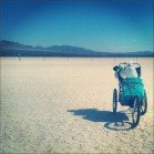 Pushcart on the Desert Playa/Salt Flats Outside Fallon, Nevada