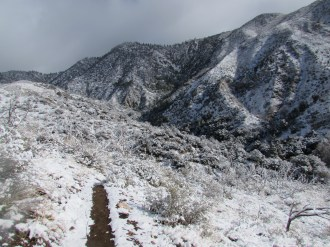 Snow on the Trail on Mount San Gorgonio