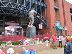 "Stan ""The Man: Musial Memorial at Busch Stadium in St Louis"