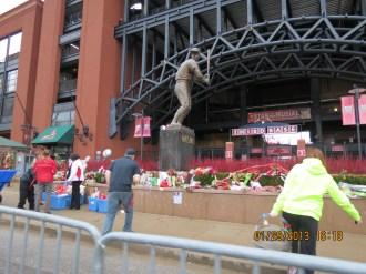 "Stan ""The Man"" Musial Memorial at Busch Stadium in St Louis"