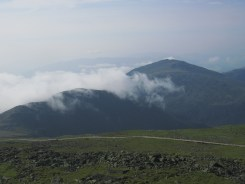 View from Mount Washington in the White Mountains of New Hampshire