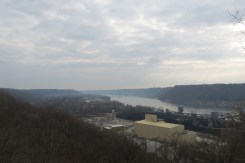 View of Madison, Indiana from Trail 1 in Clifty Falls State Park