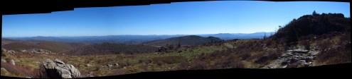 Wilburn Ridge in Grayson Highlands, Virginia Panorama