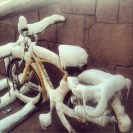 Bike Covered in Snow in Vail, Colorado