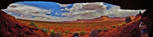 Lockhart Basin Shade Rock Panorama