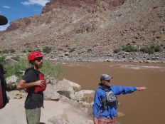 Scouting Rapids in Cataract Canyon