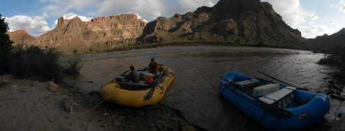Cross and Y Canyon Camp in Cataract Canyon