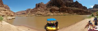 Lunch on Lake Powell Just Below Cataract Canyon