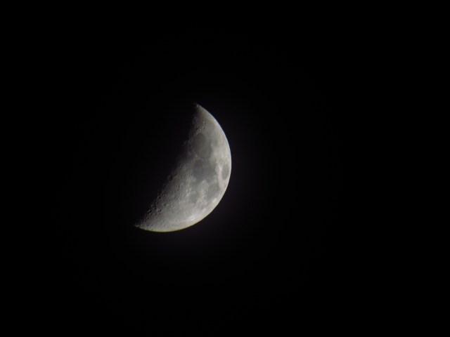 Half Moon over Murphy Hogback Campsite
