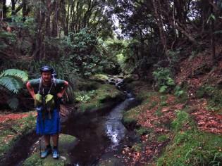 Magnus at Mangakito Stream in the Kaimai Range