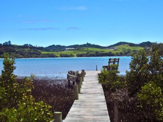 Dock at Orongo Bay
