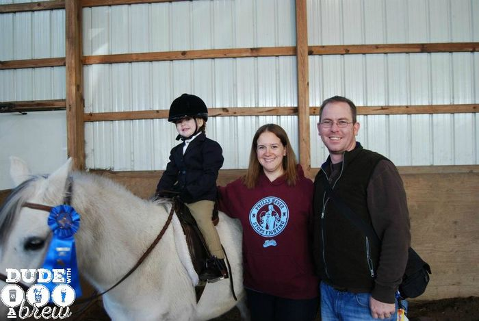 lily first horse show mom dad