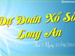 du doan xo so long an ngày 20/04/2018