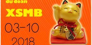 dự đoán xsmb 3/10/2018