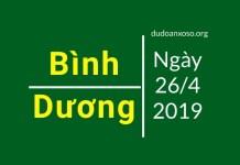 dự đoán xổ số bình dương ngày 26/4/2019