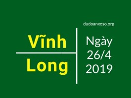dự đoán xổ số vĩnh long ngày 26/4/2019