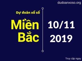 dự đoán xsmb 10/11/2019