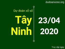 dự đoán xổ số tây ninh 23/4/2020