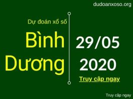 dự đoán xsbd 29/5/2020