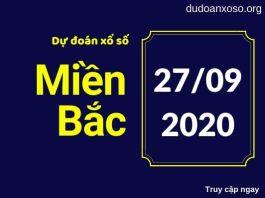 Dự đoán xsmb 27/9/2020