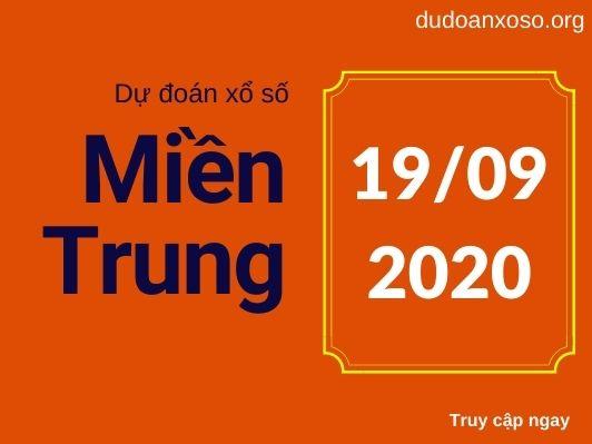 Dự đoán XSMT 19/9/2020