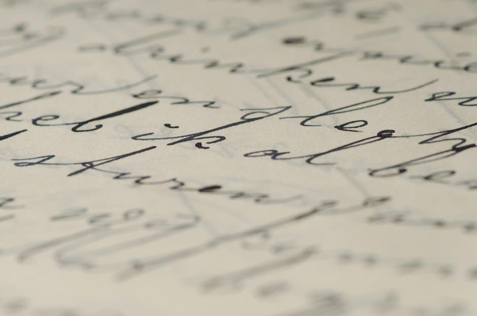 scris de mana