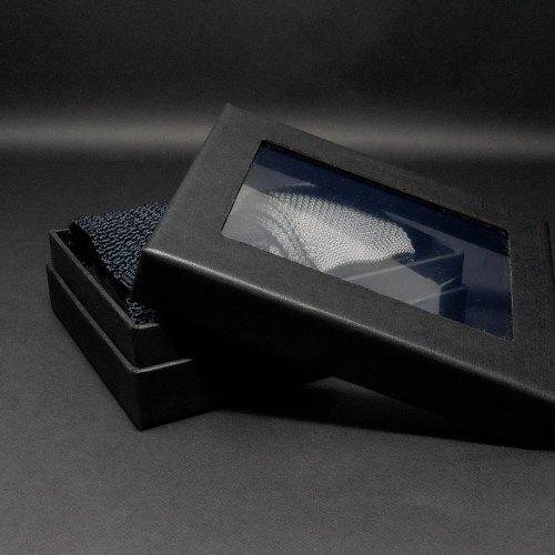 Boîte en trois parties avec fenêtre en PVC transparent