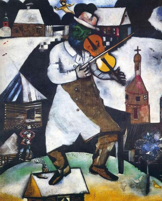 Marc Chagall, Il violinista, 1912-1913, Stedelijk Museum di Amsterdam