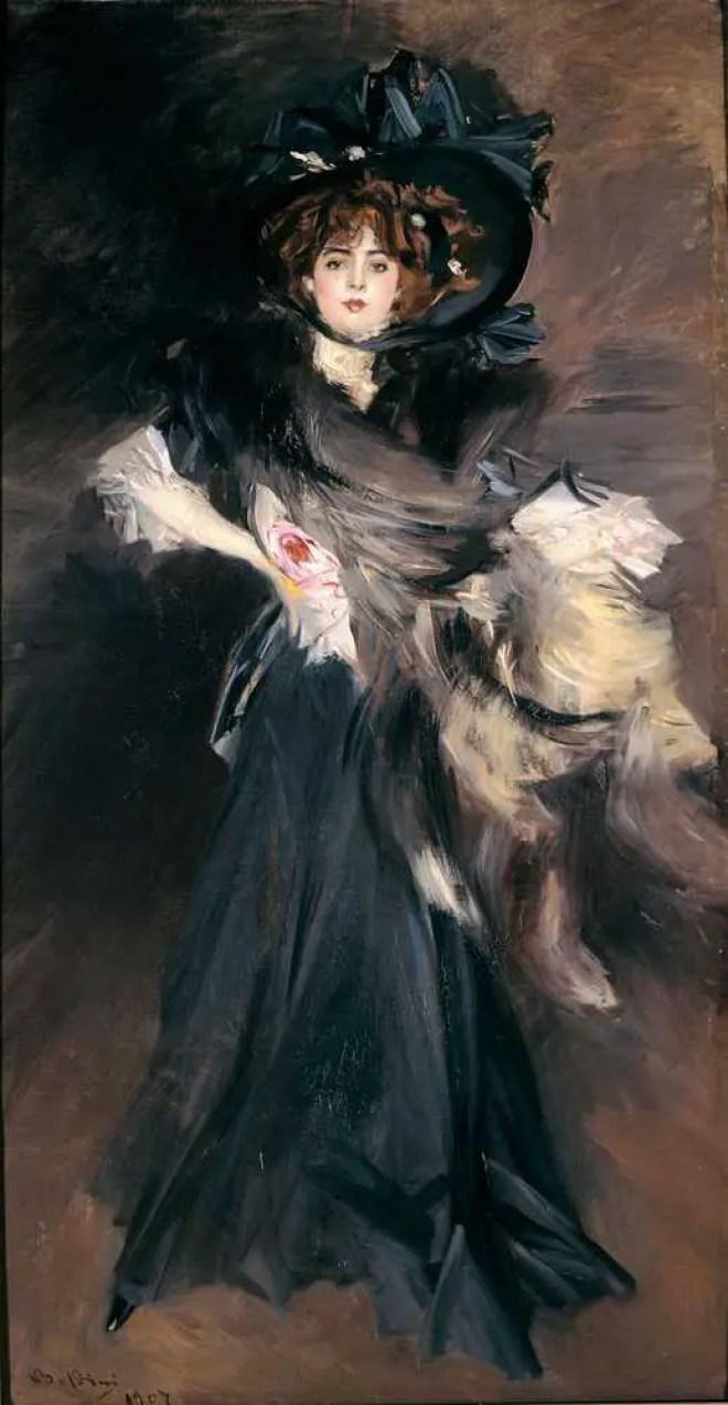 Giovanni Boldini, Ritratto di M.lle Lanthelme, (1907)