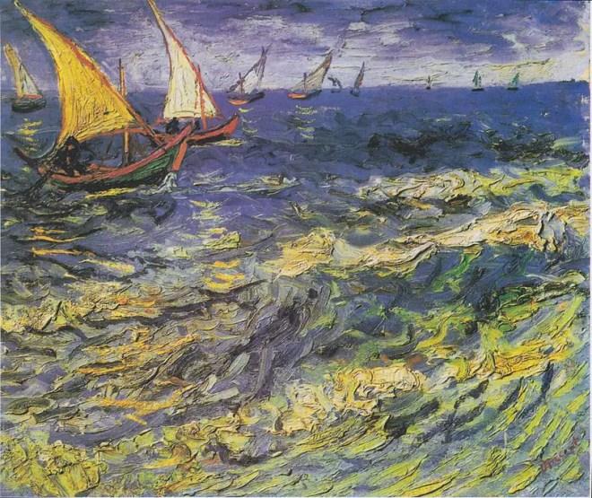 Vincent van Gogh, Seascape at Saintes-Maries