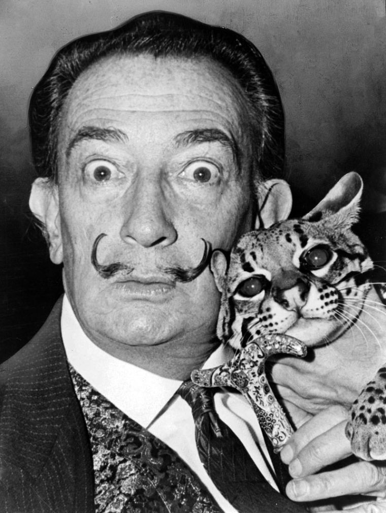 Salvador Dalí, ritratto nel 1965