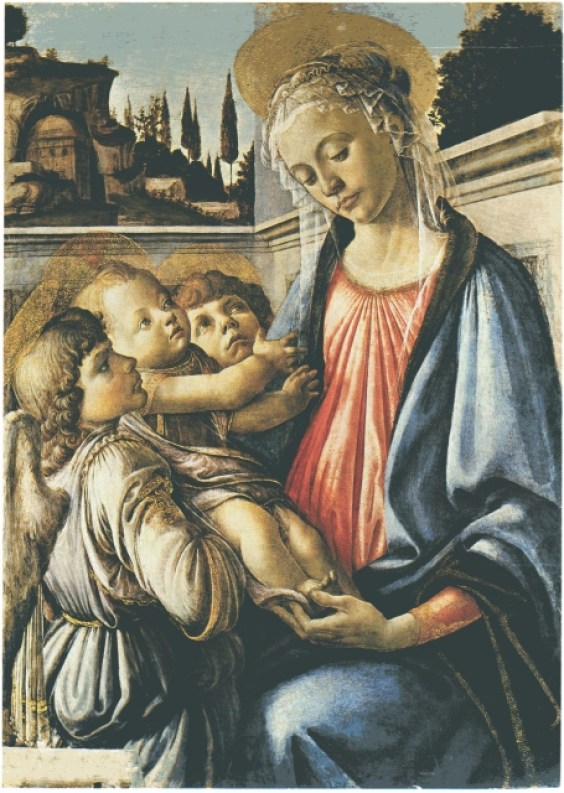 Sandro Botticelli, Madonna col bambino e due angel