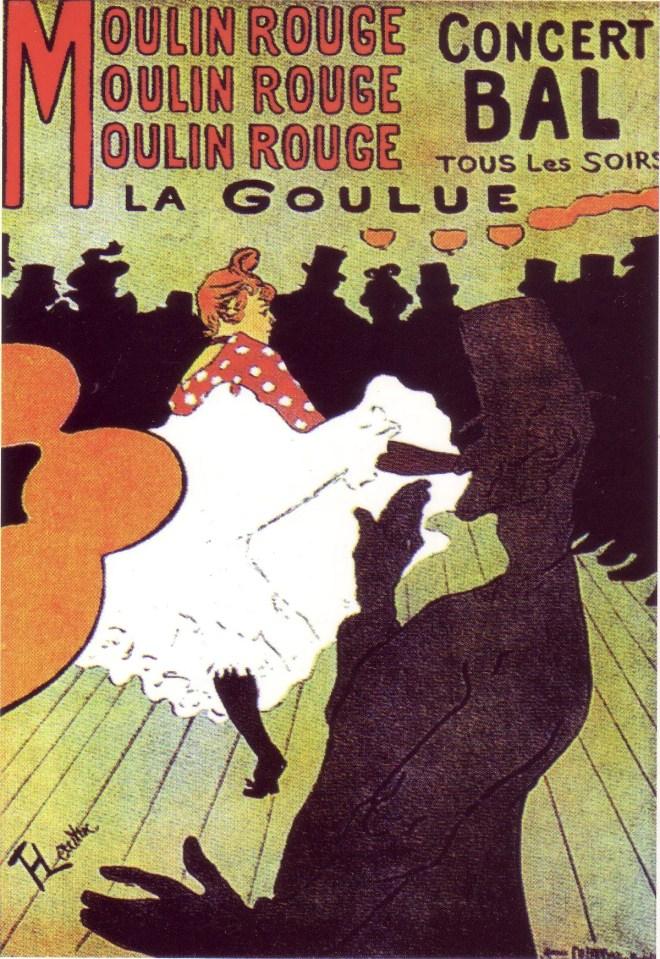 Henri de Toulouse-Lautrec, manifesto per il Mouline Rouge, 1891