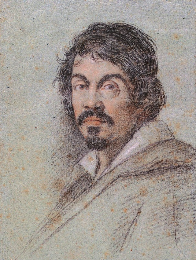 Ritratto di Caravaggio di Ottavio Leoni, 1621, Firenze, Biblioteca Marucelliana