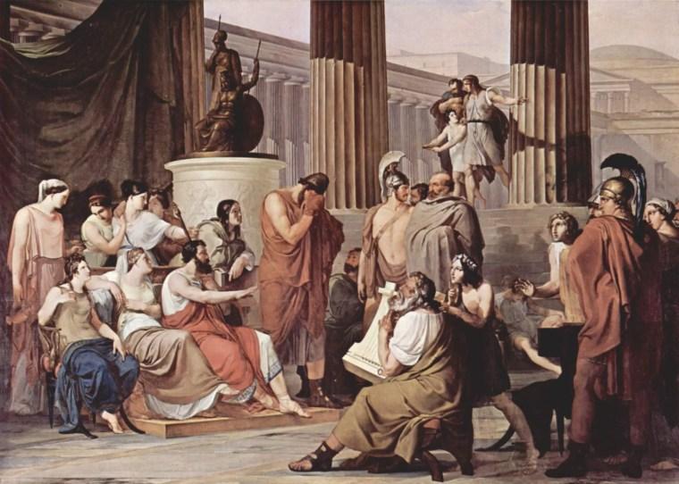 Francesco Hayez, Ulisse alla corte di Alcinoo, 1814-1816, olio su tela, 350×580 cm, Museo nazionale di Capodimonte, Napoli