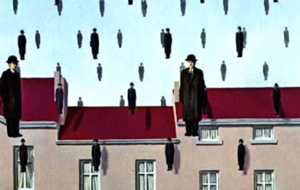René Magritte, Golconda (dettaglio)