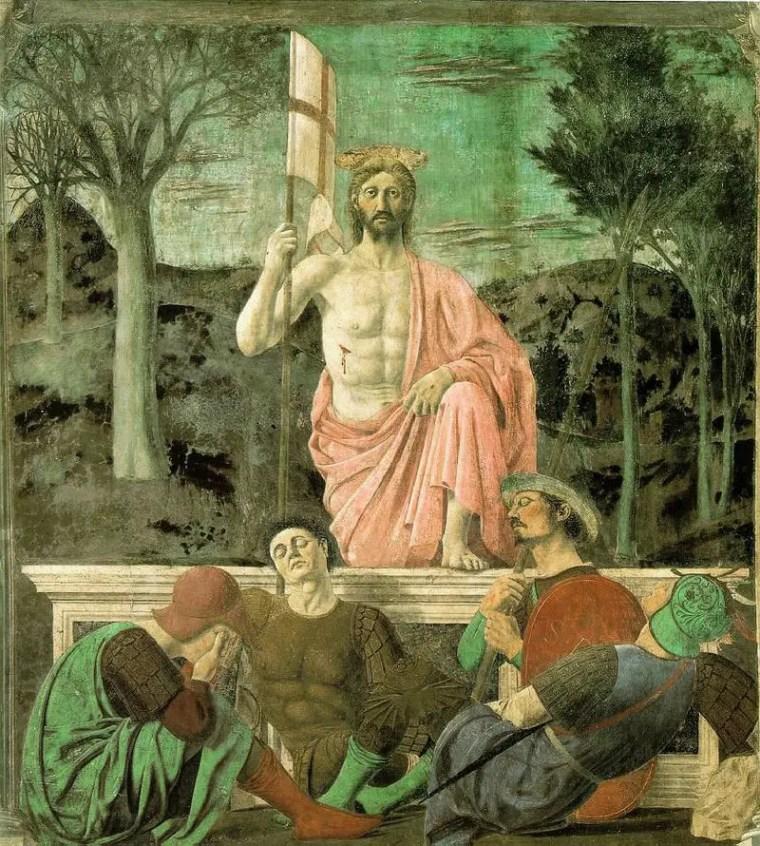 Piero della Francesca, Resurrezione, 1450-1463, affresco, 225x200 cm, Museo Civico, Sansepolcro