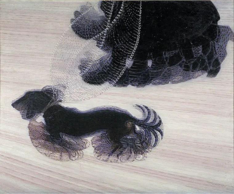 Giacomo Balla, Dinamismo di un cane al guinzaglio, 1912, Albright-Knox Art Gallery, Buffalo (NY)