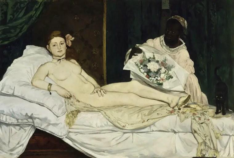 Édouard Manet, Olympia, 1963, olio su tela, 130,5×190 cm, Musée d'Orsay, Parigi