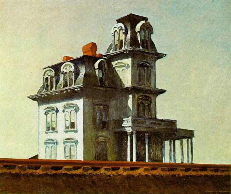 Edward Hopper, Casa vicino alla ferrovia, 1925, Museum of Modern Art, New York
