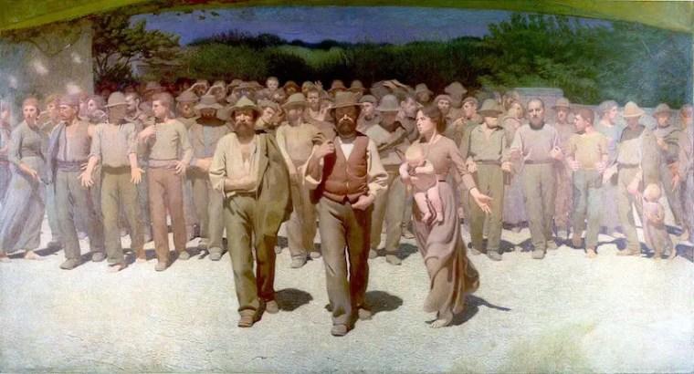 Giuseppe Pellizza da Volpedo, Il quarto stato, 1901, olio su tela, 293×545 cm, Museo del Novecento, Milano