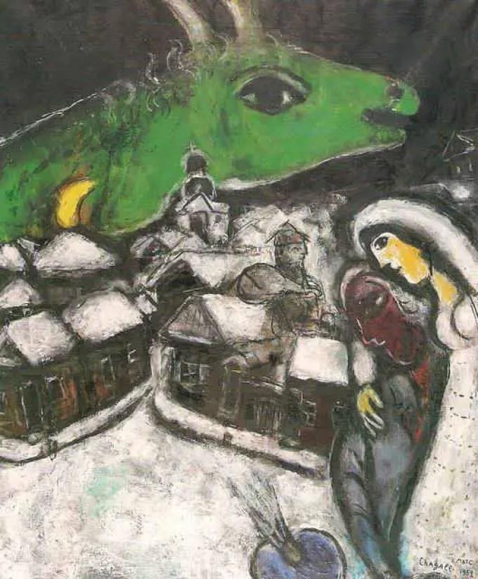 Chagall_Bella_la-notte-verde_arte-amore_due-minuti-di-arte
