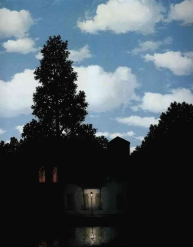 René Magritte, L'impero della luce, 1953-1954, 95,4×131,2 cm, olio su tela, Peggy Guggenheim Collection, Venezia