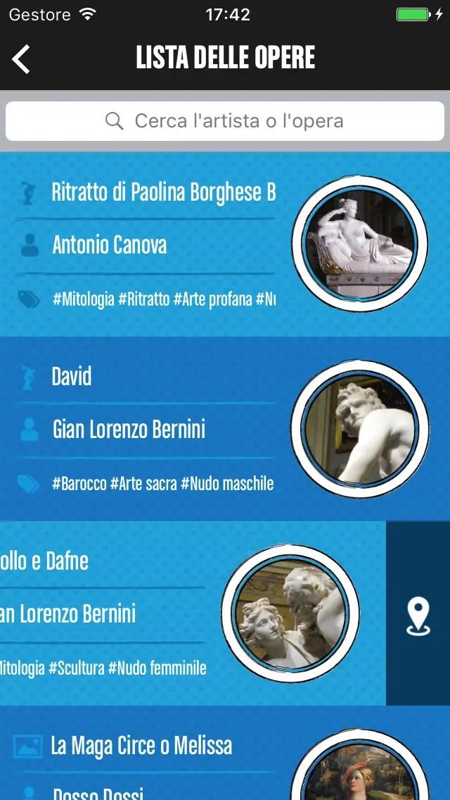 La lista delle opere della Galleria Borghese a Roma