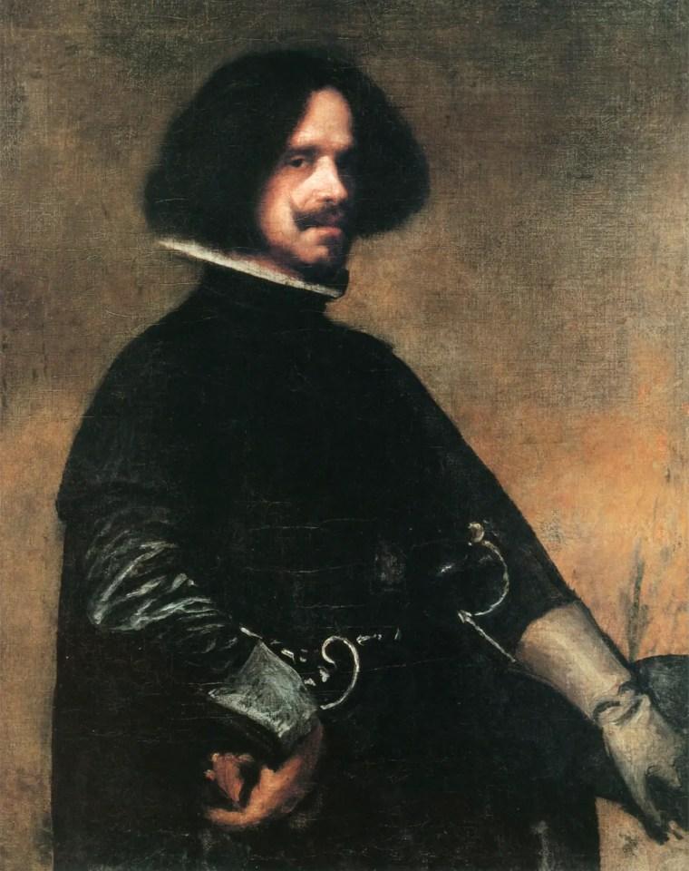 Diego Velázquez, Autoritratto, 1643, olio su tela, . 103,5 x 82,5 cm, Galleria degli Uffizi, Firenze