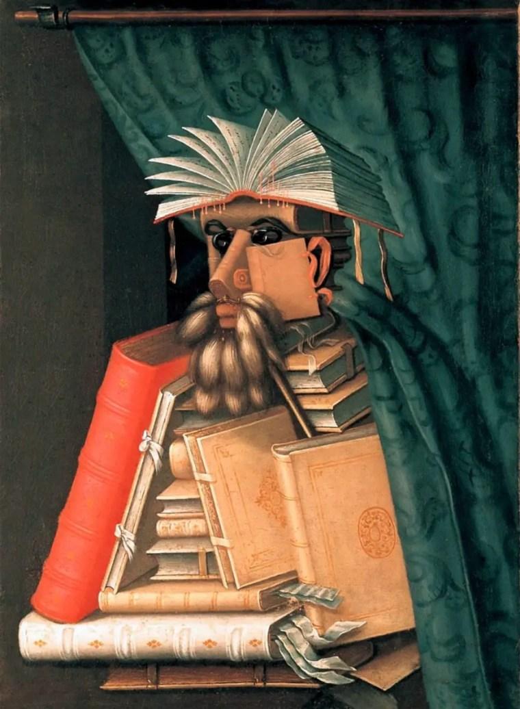 Giuseppe Arcimboldo, Il bibliotecario, 1566, Castello di Skoklosters, Svezia